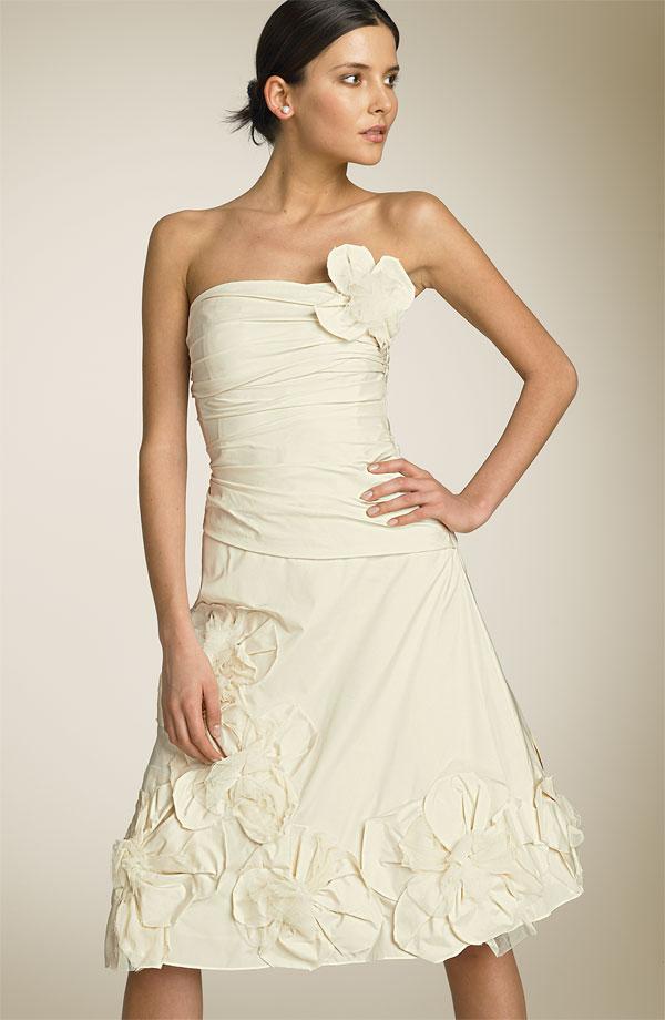 BCBG MaxAzria Strapless Applique Dress