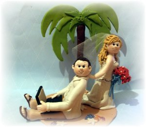 Adorable Tropical Custom Cake Topper