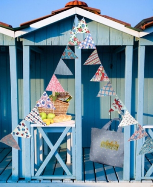 Blue Beach Bunting Perfect For Relaxed Destination Weddings on the Beach