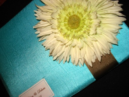 Flowery Guest Book with Island Feel Perfect For Destination Wedding