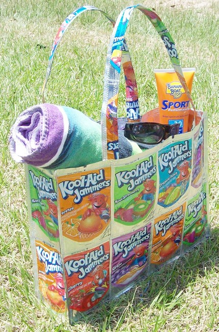 Too Kool Upcycled KoolAid Box Beach Bag