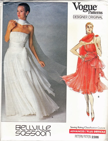 1989 Vintage Vogue Dress Pattern