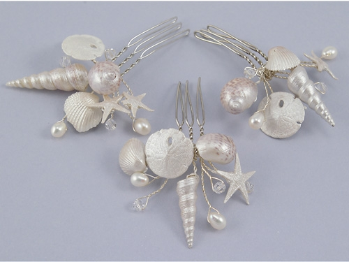 Natural SeaShell Hair Combs by Ariel