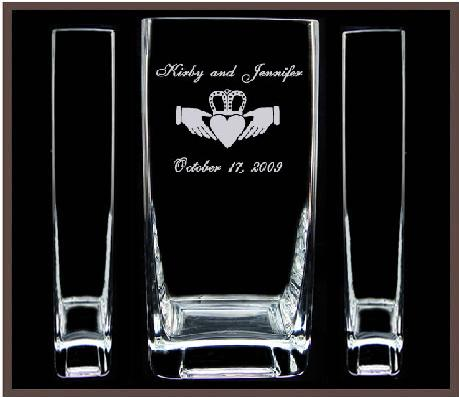 Engraved Claddagh Sand Ceremony Set