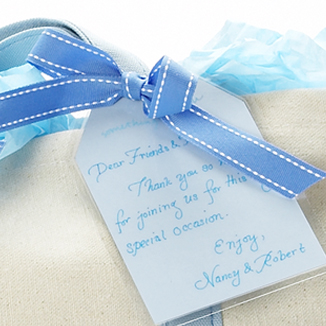 Hang Tag Note Adds Elegant Touch to Destination Wedding Welcome Gift
