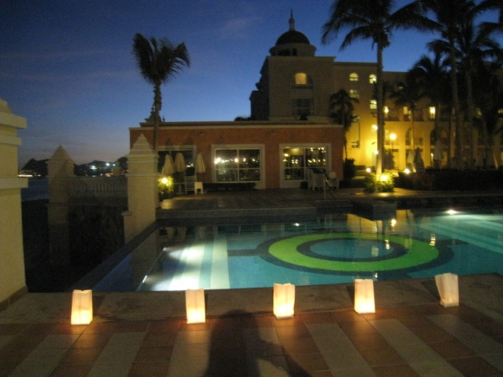 Luminaries Light the Pool at the Riu Palace Los Cabos
