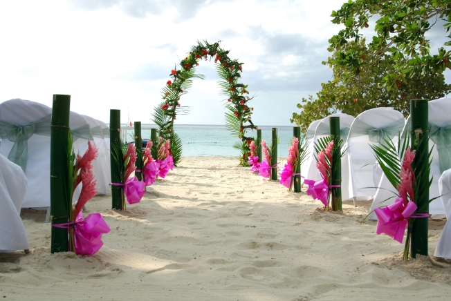 Ceremony Setup Moon Dance Villas Negril