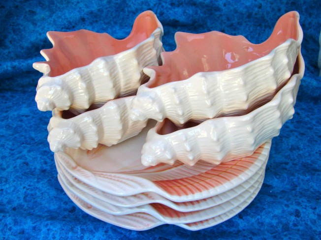 Shell Bowls and Plates