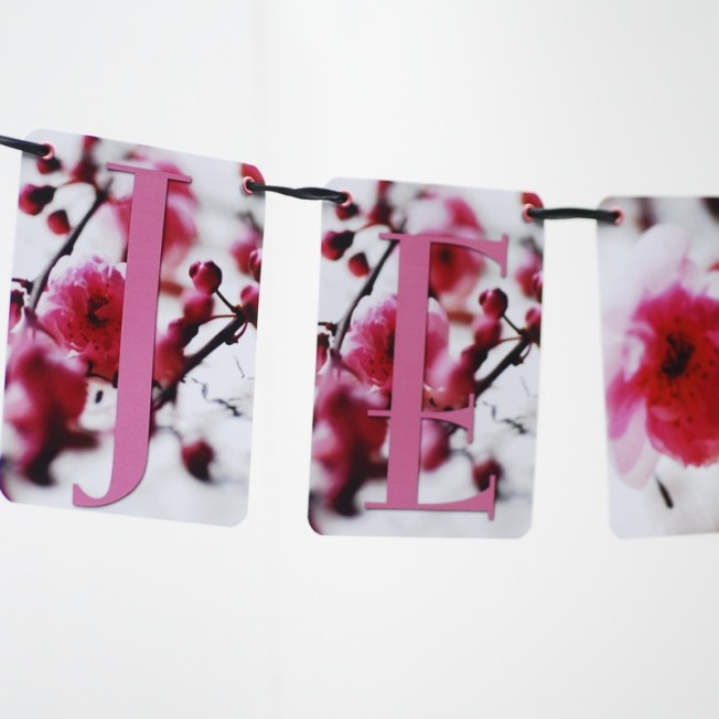 Je Taime Photo Cherry Blossom Garland