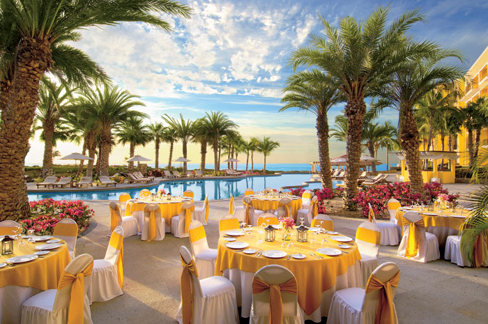 Wedding Set-up Infinity Pool Dreams Los Cabos