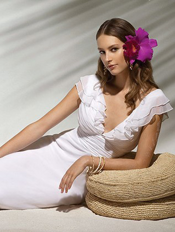 Sandals and Dessy Create Destination Wedding Gowns