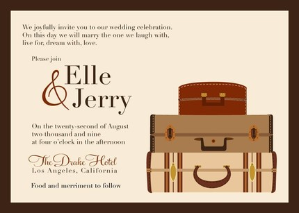 Vintage Pack Your Bags Save the Date