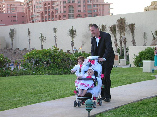 Flower Girl to Young to Walk, Make A Flower Girl Carriage