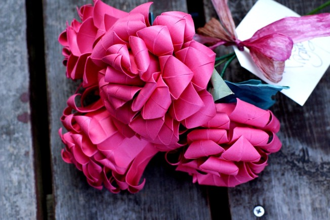 Oragami Rose Bouquet, by MyBohemianSummer