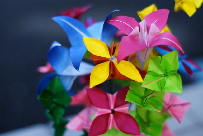 Mini Oragami, bright flowers by MyBohemianSummer