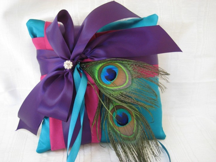 Peacock Ring Bearer Pillow from Simply Bridal