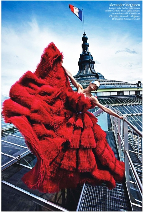 Red Couture Destination Wedding Dress