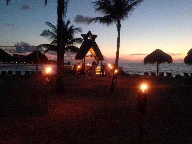 sunrise wedding Dreams Puerto Aventuras Destination Wedding Planning
