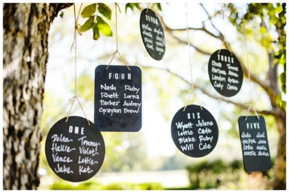 DIY Wedding Chalkboard Table Numbers
