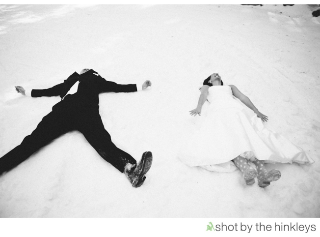 Winter Destination Wedding Trash the Dress