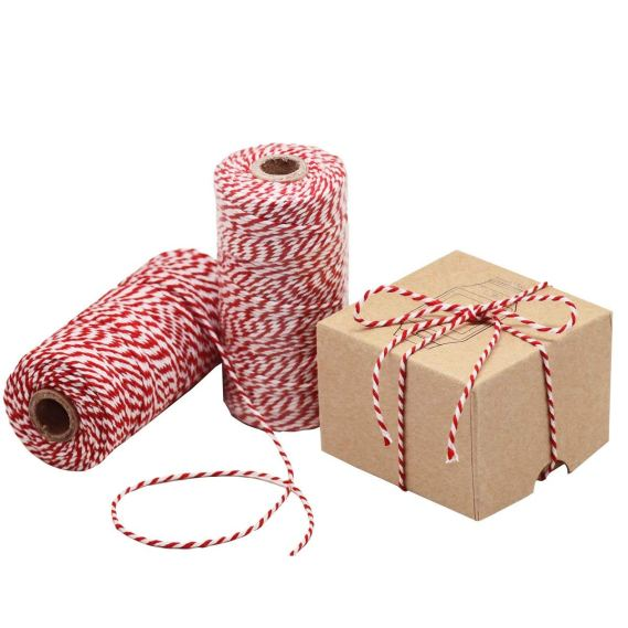Bakers Twine for Vintage Cookie Tin Christmas Tower